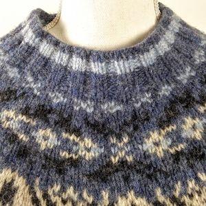 Eddie Bauer LEGEND Fair Isle Wool Sweater S/P
